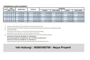 price list panorama alam residence cilangkap