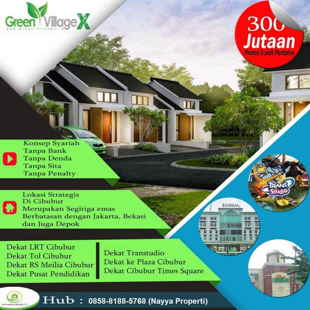 rumah syariah di cibubur green village 10