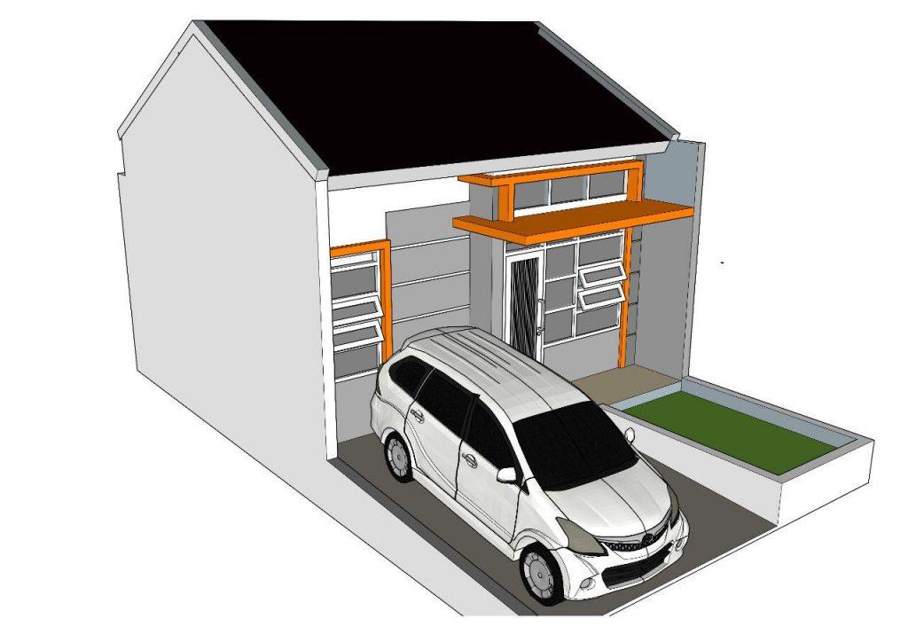 desain rumah denah rumah barazaki residence depok