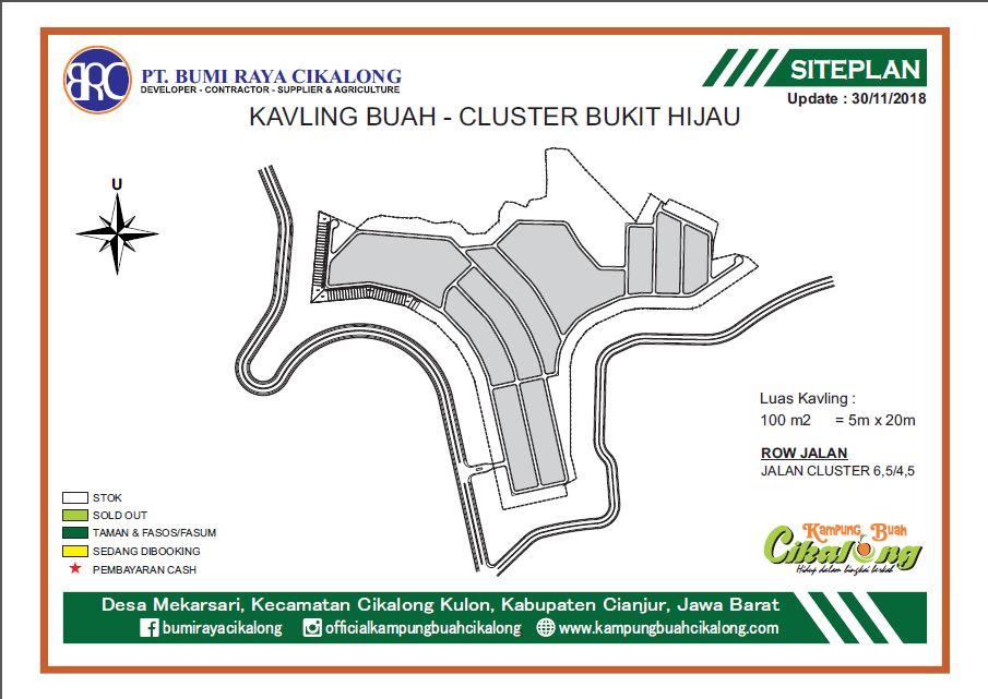 Full Master Plan Kavling Buah Cluster Bukit Hijau Kampung Buah Cikalong