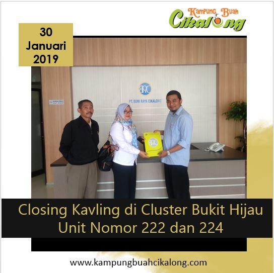 closing 2 unit kavling di cluster bukit hijau kampung buah cikalong