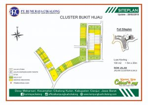 update kavling di cluster bukit hijau kampung buah cikalong