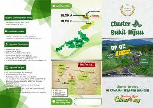 brosur cluster bukit hijau kampung buah cikalong