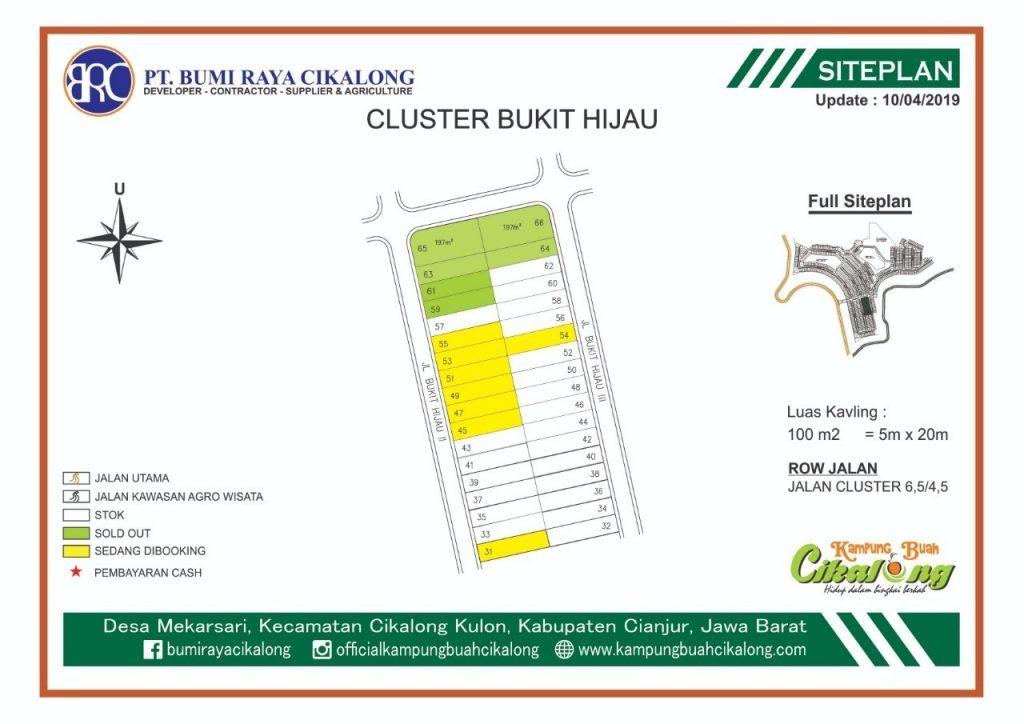 update cluster bukit hijau skema dp 0% dan angsuran 1 juta perbulan - Tahap 6