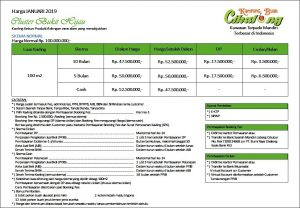 price list kampung buah cikalong