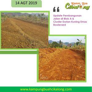 pembangunan jalan blok a kampung buah cikalong