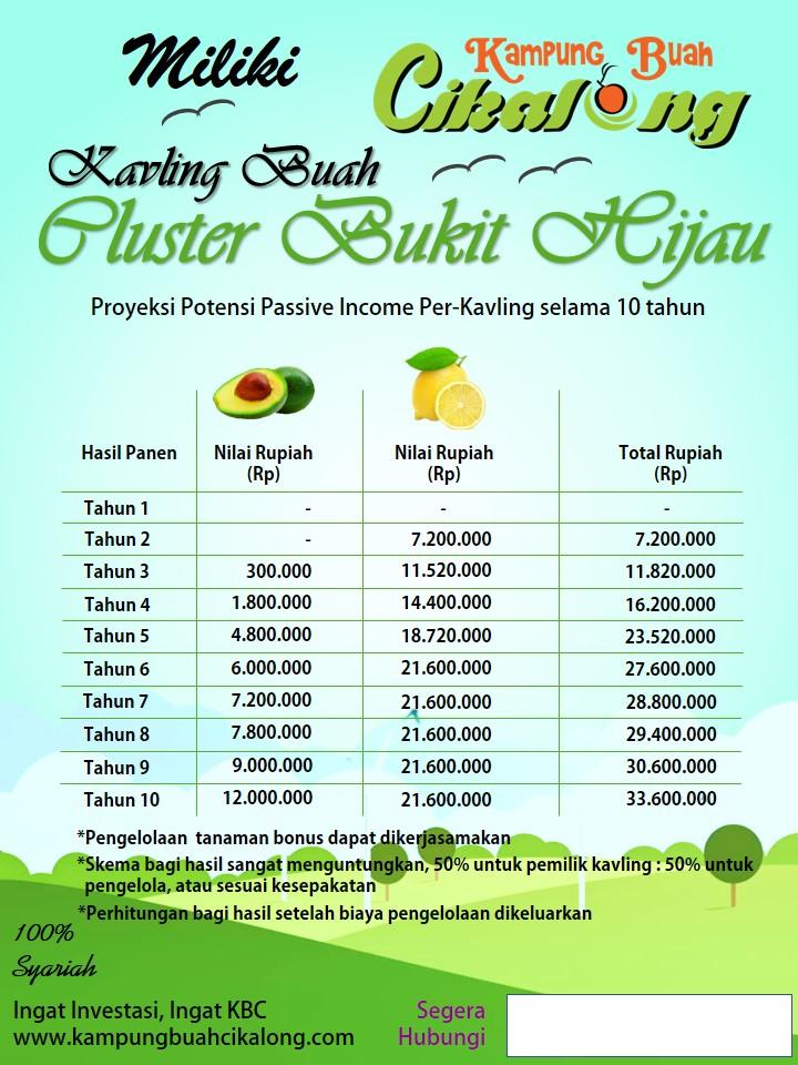 proyeksi passive income dari jeruk lemon dan alpukat miki kampung buah cikalong