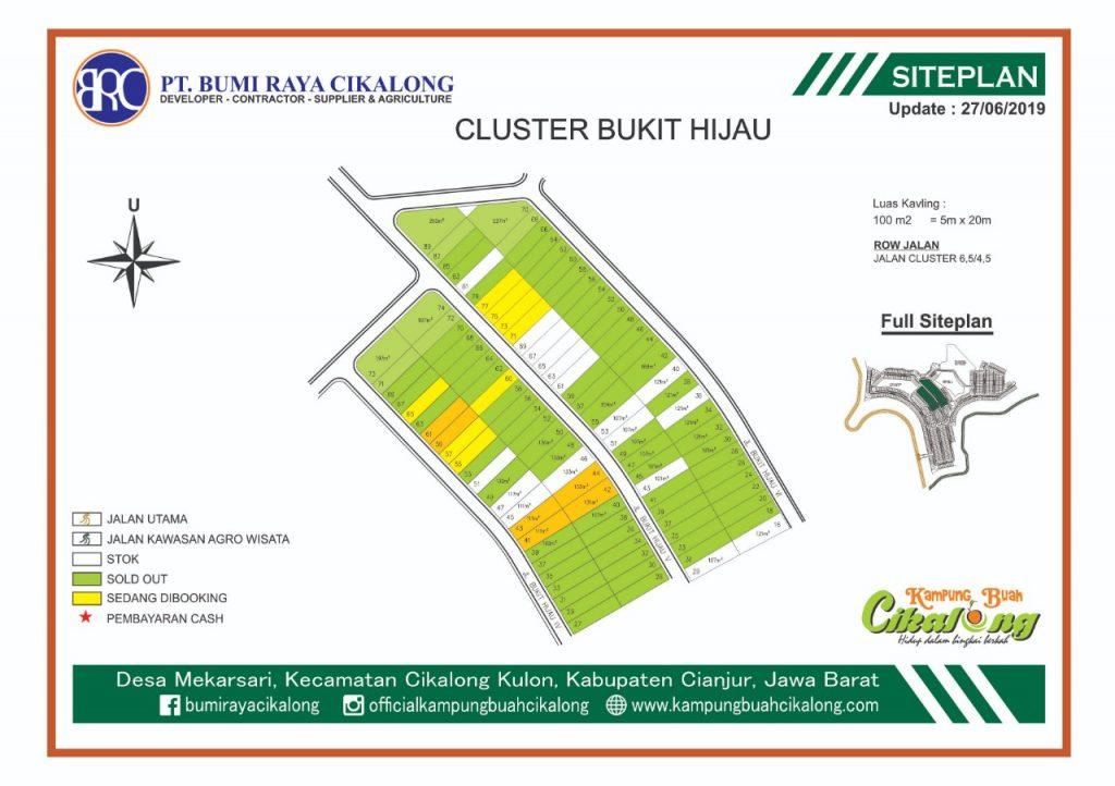 update stok kavling di cluster bukit hijau kampung buah cikalong