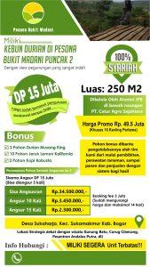standing banner kavling kebun durian bukit madani