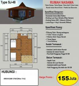 Rumah Panel Knock Down Nasama Anti Gempa, Anti Rayap, Anti Api, Awet dan Murah