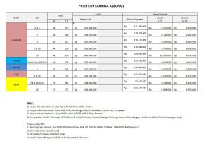 price list perumahan syariah sabrina azzura 2 setu bekasi