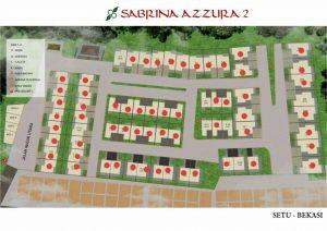 siteplan sabrina azzura setu bekasi