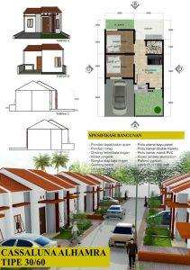 rumah dijual di cluster islami cassaluna el mumtaz klari karawang tanpa DP