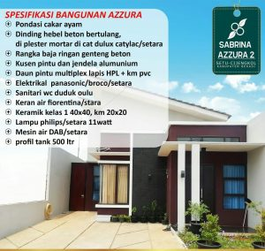 spesifikasi bangunan sabrina azzura setu bekasi
