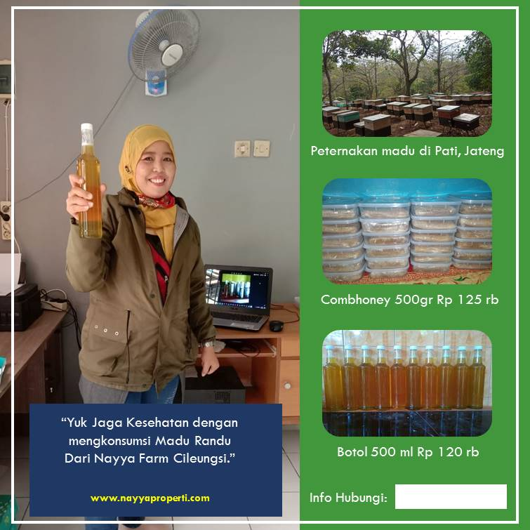 jual madu randu asli pati jawa tengah di nayya farm cileungsi
