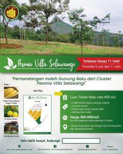 brosur update cluster villa pesona vila selawangi