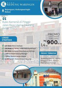 Jual Ruko Komersil Ready Stock di Cikarang Lokasi Pinggir Jalan Raya Utama Cikarang (jalur pantura cikarang - karawang)