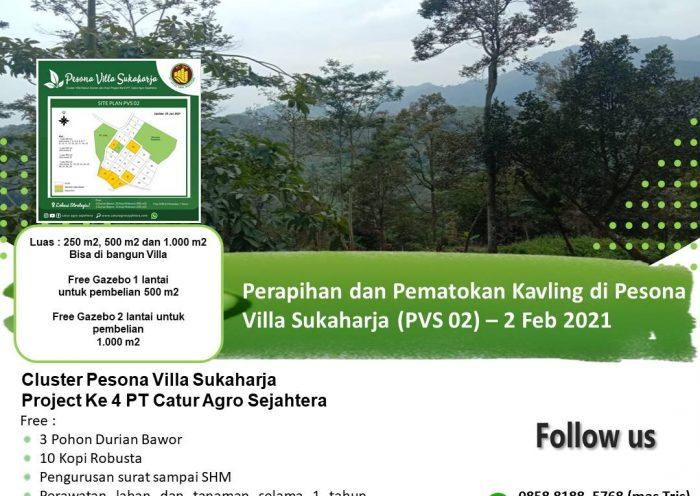 Jual tanah di Pesona Villa Sukaharja