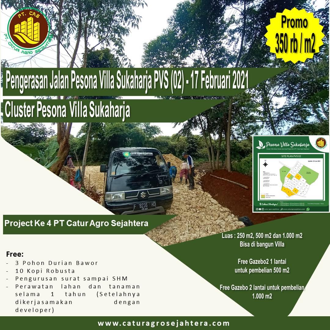 Perapihan dan Pengerasan Jalan Pesona Villa Sukaharja (PVS 02) - 17 Februari 2021
