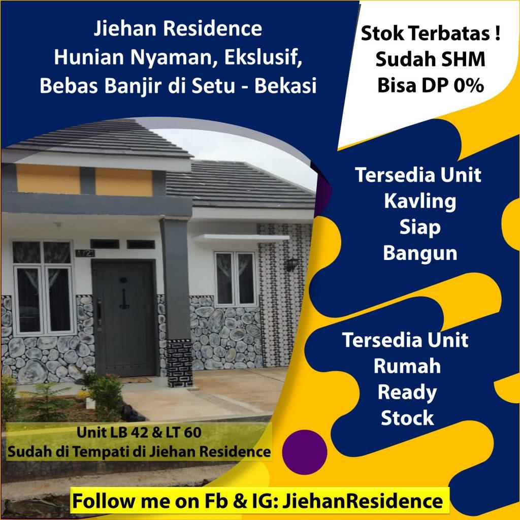 daftar harga rumah di jiehan residence setu bekasi